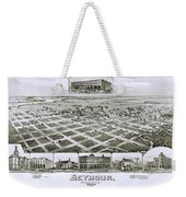1890 Vintage Map Of Seymour Texas Weekender Tote Bag