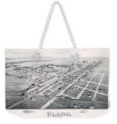 1890 Vintage Map Of Plano Texas Weekender Tote Bag