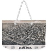 Vintage Perspective Map Of Texarkana Weekender Tote Bag