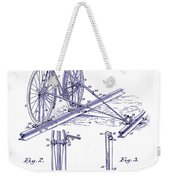 1891 Bicycle Patent Blueprint Weekender Tote Bag