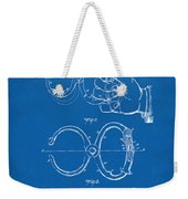 1891 Police Nippers Handcuffs Patent Artwork - Blueprint Weekender Tote Bag
