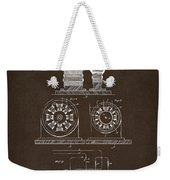 1891 Tesla Electro Magnetic Motor Patent Espresso Weekender Tote Bag