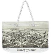 1891 Vintage Map Of Whitewright Texas Weekender Tote Bag