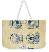 1892 Barker Camera Shutter Patent Vintage Weekender Tote Bag