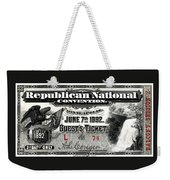 1892 Republican Convention Ticket Weekender Tote Bag
