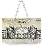 1895 Wine Room Fixture Design Patent Weekender Tote Bag
