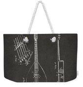 1896 Brown Guitar Patent Artwork - Gray Weekender Tote Bag