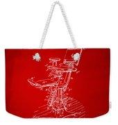 1896 Dental Chair Patent Red Weekender Tote Bag
