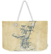 1896 Dental Chair Patent Vintage Weekender Tote Bag