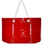 1896 Dental Excavator Patent Red Weekender Tote Bag