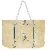 1896 Dental Excavator Patent Vintage Weekender Tote Bag