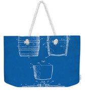 1898 Beer Keg Patent Artwork - Blueprint Weekender Tote Bag