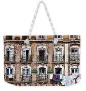 18th Century Building In Lisbon Weekender Tote Bag