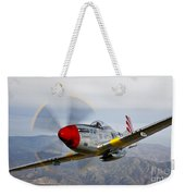 A P-51d Mustang In Flight Weekender Tote Bag