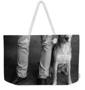 Portrait Of Red Bone Coon Mix Dog Weekender Tote Bag