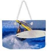 Windsurfing Weekender Tote Bag by George Atsametakis