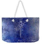 1900 Corkscrew Patent Drawing Blue Weekender Tote Bag