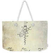 1900 Corkscrew Patent Drawing Weekender Tote Bag