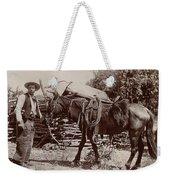 1900 Cowboy Weekender Tote Bag
