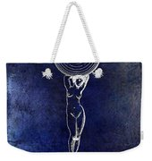 1901 Wine Glass Design Patent Blue Weekender Tote Bag