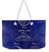 1902 Billiard Ball Patent Drawing Blue Weekender Tote Bag