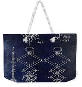 1902 Corkscrew Patent Blue  Weekender Tote Bag
