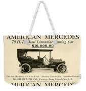 1907 - Daimler Manufacturing Company - American Mercedes Demi Limousine Automobile Advertisement Weekender Tote Bag