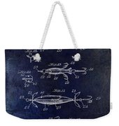 1907 Fishing Lure Patent Blue Weekender Tote Bag