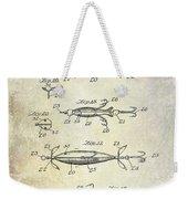1907 Fishing Lure Patent Weekender Tote Bag
