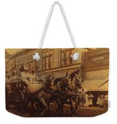 1908 Nickel-plated  Nott Steamer Fire Truck July 4th Parade East Congress Tucson Arizona 1909-2009 Weekender Tote Bag