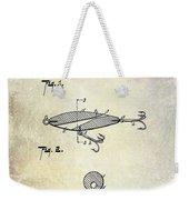 1909 Fishing Lure Patent Drawing Weekender Tote Bag