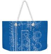1909 Flute Patent - Blueprint Weekender Tote Bag