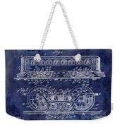 1909 Railway System Patent Drawing Blue Weekender Tote Bag