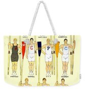 1910 - College Crew Poster - Rowing - Edward Penfield - Color Weekender Tote Bag