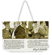 1910 - Gillette Mens Shaving Advertisement Weekender Tote Bag