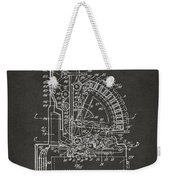 1910 Cash Register Patent Gray Weekender Tote Bag
