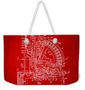 1910 Cash Register Patent Red Weekender Tote Bag