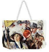 1910s 1912 Cover Sunday Magazine Weekender Tote Bag