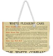 1911 - White Automobile Company Advertisement Weekender Tote Bag