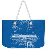 1911 Automatic Firearm Patent Artwork - Blueprint Weekender Tote Bag