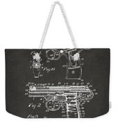 1911 Automatic Firearm Patent Artwork - Gray Weekender Tote Bag by Nikki Marie Smith
