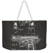 1911 Automatic Firearm Patent Artwork - Gray Weekender Tote Bag