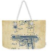 1911 Automatic Firearm Patent Artwork - Vintage Weekender Tote Bag