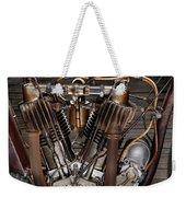 1912 Indian Board Track Racer Engine Weekender Tote Bag