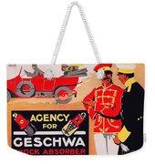 1913 - Geschwa Automobile Shock Absorber Adbertisement - Color Weekender Tote Bag