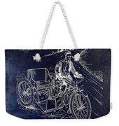 1913 Motorcycle Side Car Patent Blue Weekender Tote Bag