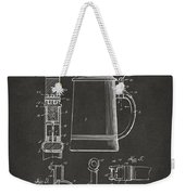 1914 Beer Stein Patent Artwork - Gray Weekender Tote Bag