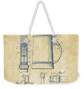1914 Beer Stein Patent Artwork - Vintage Weekender Tote Bag