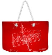 1914 Wright Brothers Flying Machine Patent Red Weekender Tote Bag