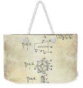 1915 Billiard Cue Patent Drawing  Weekender Tote Bag